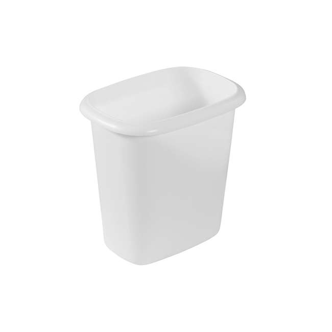 4 x FG295300WHT Rubbermaid 6 Quart Bedroom, Bathroom, and Office Wastebasket Trash Can (4 Pack) 1