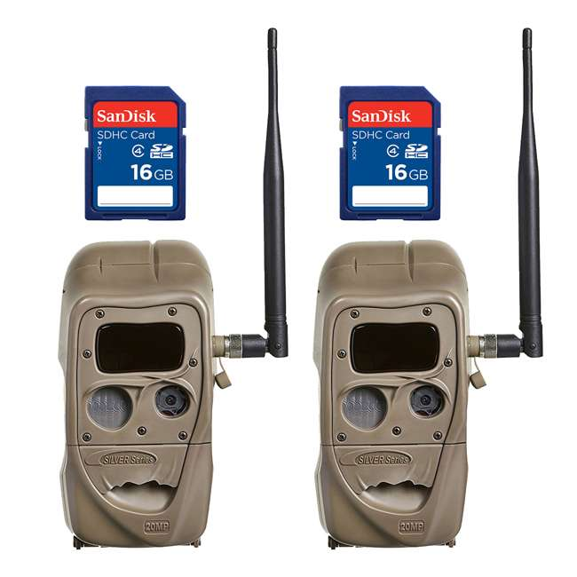 J1422-BLACKFLASH + 2 x SD4-16GB-SAN Cuddeback CuddeLink 20MP IR Game Camera  + 16GB SD Card (2 Each)