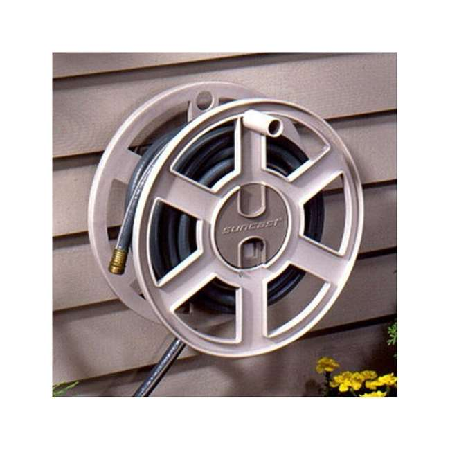 3 x CPLSWA100-U-A Suncast 100 Ft. Wall Mount Garden Hose Reel Side Winder- Taupe(Open Box)(3 Pack)