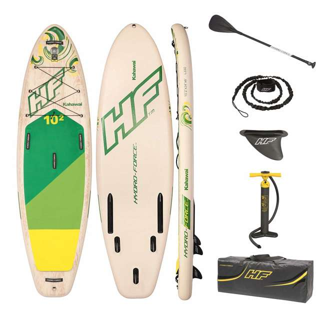 65308E-BW Bestway Hydro-Force Kahawai 10 Foot Inflatable SUP Paddle Board
