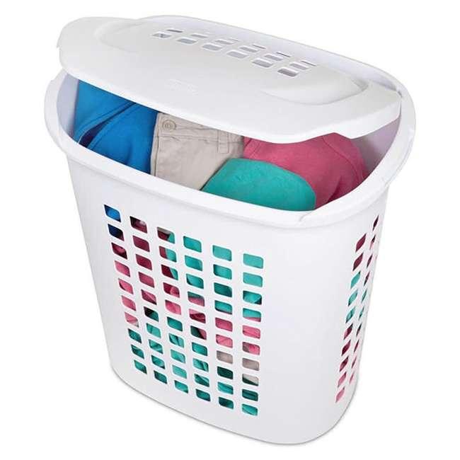 12218004-U-A Sterilite 2.3 Bushell 81 Liter Lift Top XL Laundry Basket Hamper (Open Box) 3