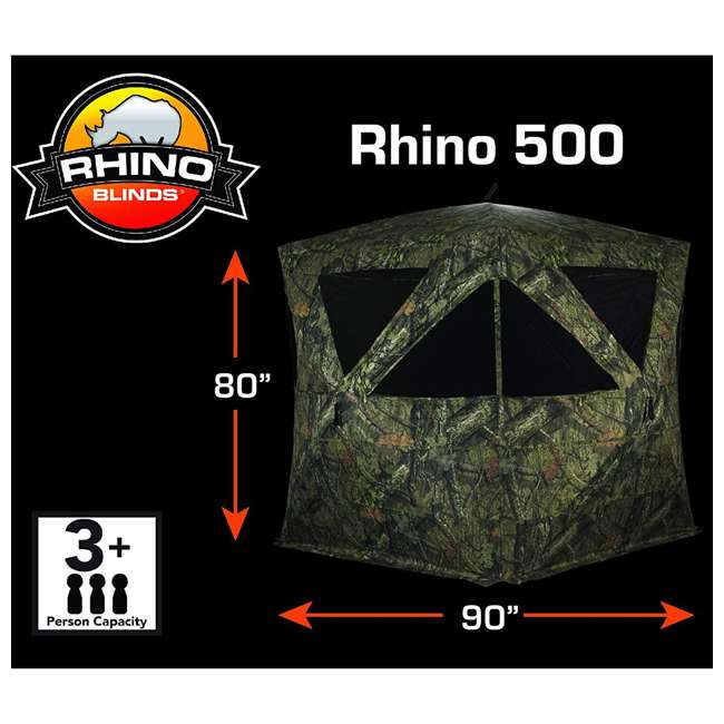 R500-RTE Rhino Blinds R500-RTE RealTree Edge 3 to 4 Person Hunting Ground Blind, RealTree 1