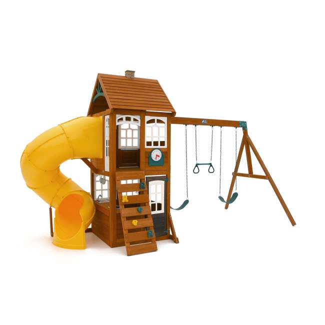 F24953 KidKraft F24953 Creston Lodge Kids Wooden Outdoor Playset