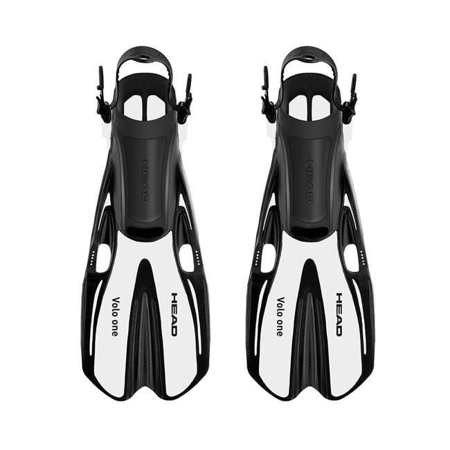 496325-PKGRLXL + 480203SFWHLXL Head Sea VU Dry Full-Face Anti-Fog Adult XL Snorkeling Swim Mask & L/XL Fins 2