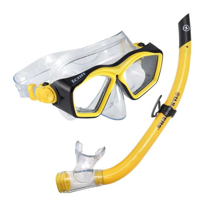 SC253113 U.S. Divers Icon Mask and Airent Snorkel Set for Adults, One Size Fits Most