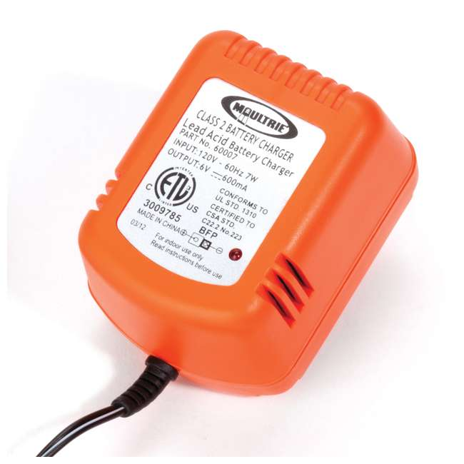 MFHP12406 + MFA-13211 Moultrie 6 Volt Battery - Rechargeable Safety Feeder Battery + 6 Volt Battery Charger 3