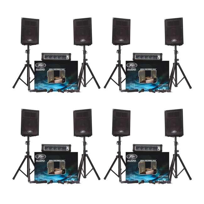 4 x AUDIOPERFORMPACK Peavey Audio Performer Pack PA System (4 Pack)