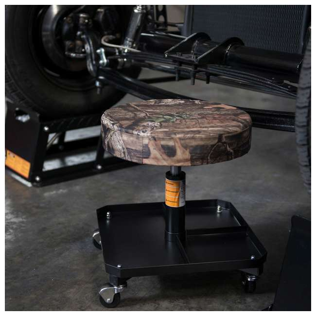 TOR-TR6350MO Torin Big Red Rolling Pneumatic Creeper Padded Stool, Camo (2 Pack) 3