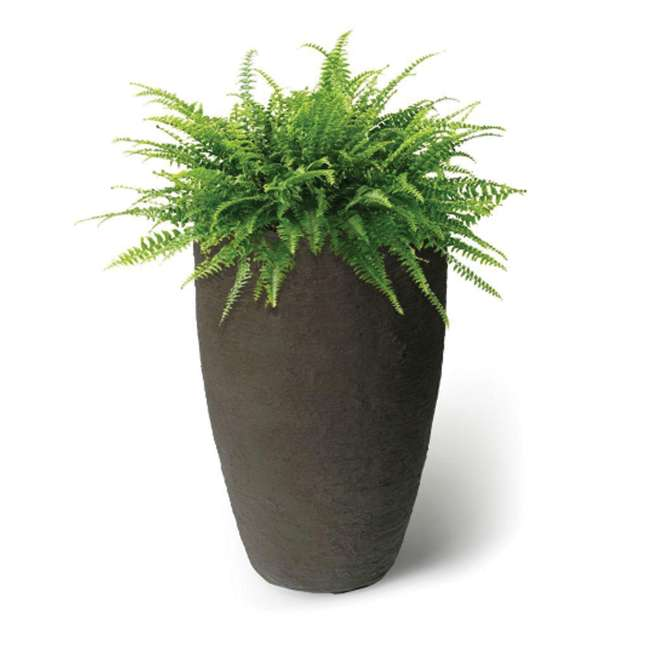 ALG-87311-U-A Algreen Products Self-Watering Flower Pot and Planter, Brownstone (Open Box) 1