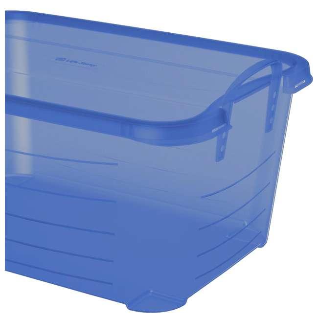 4 x CS-50TB Life Story Blue Closet Organization & Storage Box Container, 55 Quart (4 Pack) 1