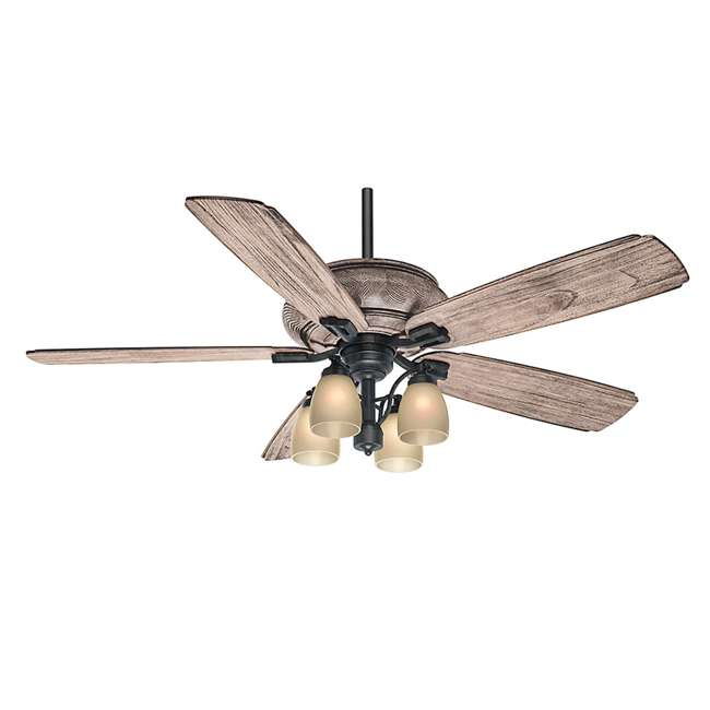 "55052 Casablanca 55052 Heathridge Tahoe 60"" Electric Indoor Wood Ceiling Fan & Remote"