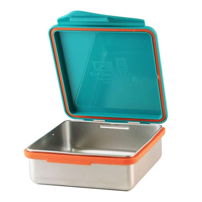 796515002867 + 796515002737 + 796515002836 Kid Basix Safe Snacker 23oz Stainless Steel Lunch Box + 7oz and 13oz Containers 1