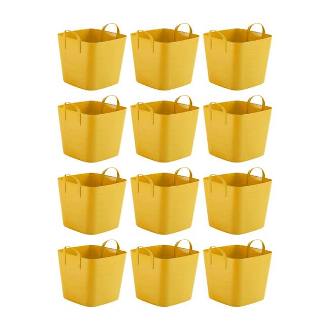 12 x Tub 25L Life Story 6.6-Gallon Storage Tote with Handles (12 Pack)