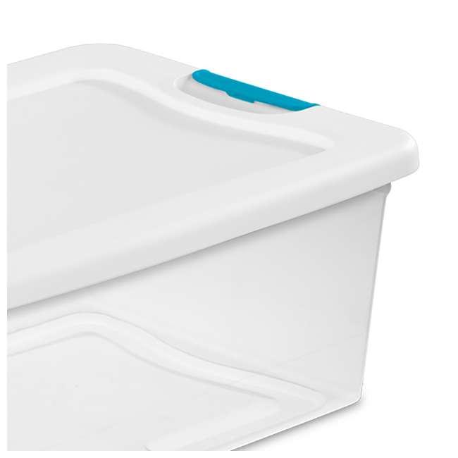 96 x 14948012 Sterilite 1494 15-Quart Clear Latching Stacking Storage Box (96 Pack) 3