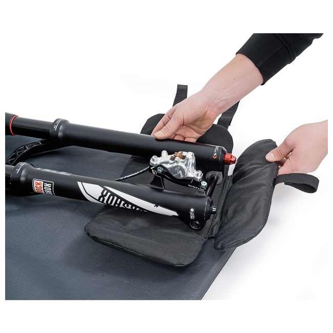 96900 B&W International Padded Lightweight Zippered Bike Bag and Case II, Black 5