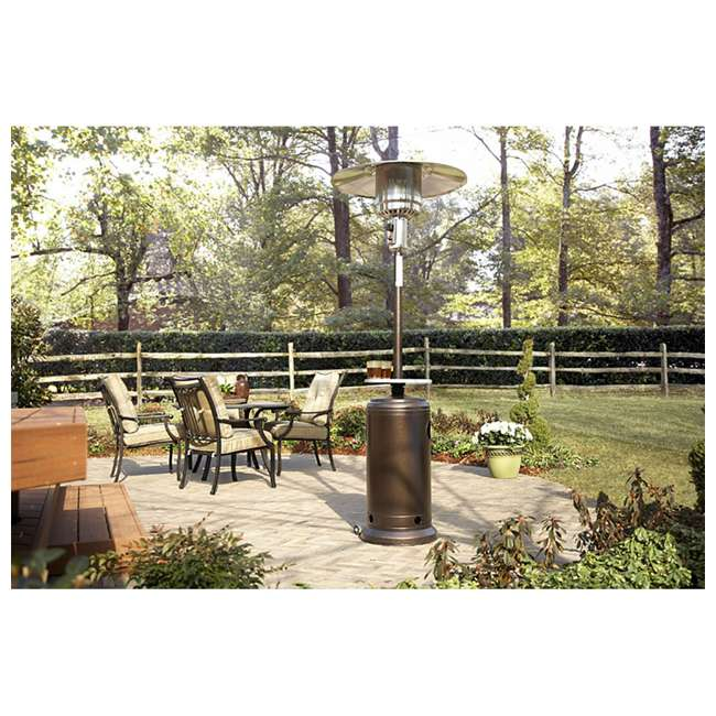 HLDS01-CGT-U-C AZ Patio Tall Propane Wheeled Patio Heater w/ Table, Hammered Bronze (For Parts) 2