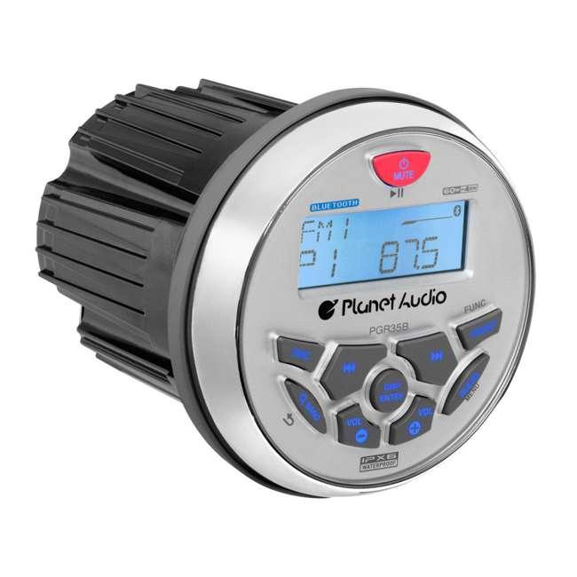 PGR35B Planet Audio 3.5-Inch Marine MP3/Radio Bluetooth Receiver