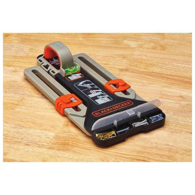 BDCK502C1 + BDMKIT101C Black & Decker Drill, Jig Saw, Sander & Flashlight Kit & Picture Hanging Kit 10
