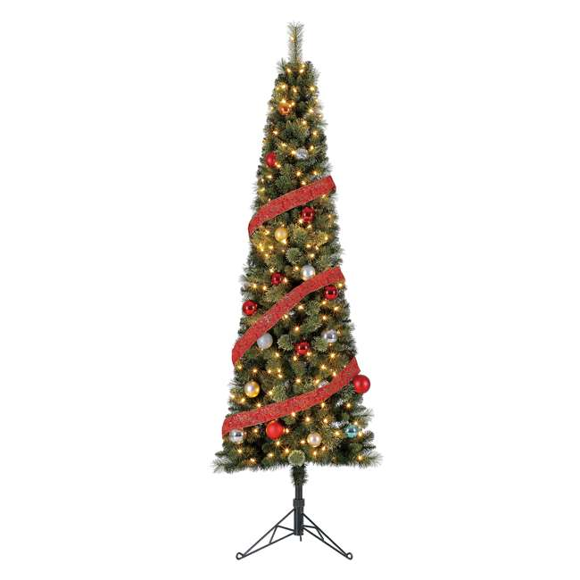 TV70M3AVBL00 Home Heritage Cashmere 7 Foot Artificial Corner Christmas Tree with LED Lights 1