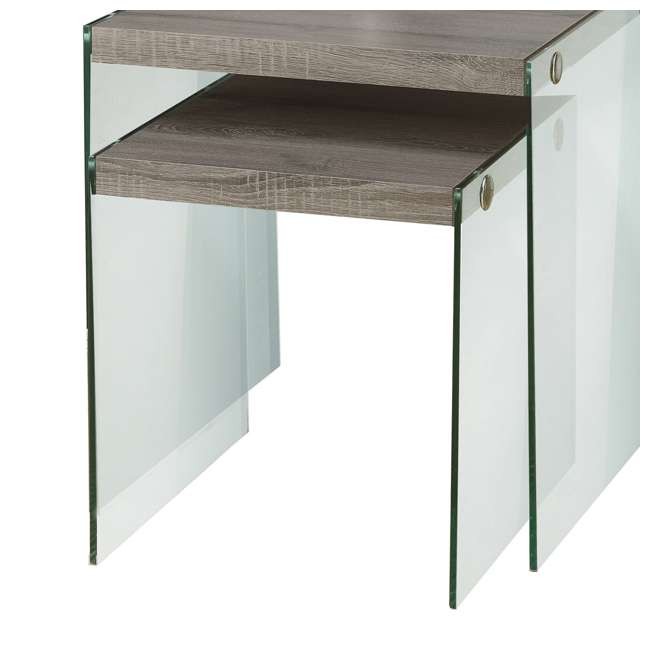 Glass Nesting Boxes : Monarch specialties tempered glass nesting end tables