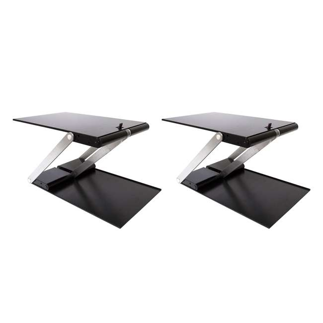 UD-01-BLA Supermoon Products Up2U Height Adjustable Desk, Black (2 Pack)