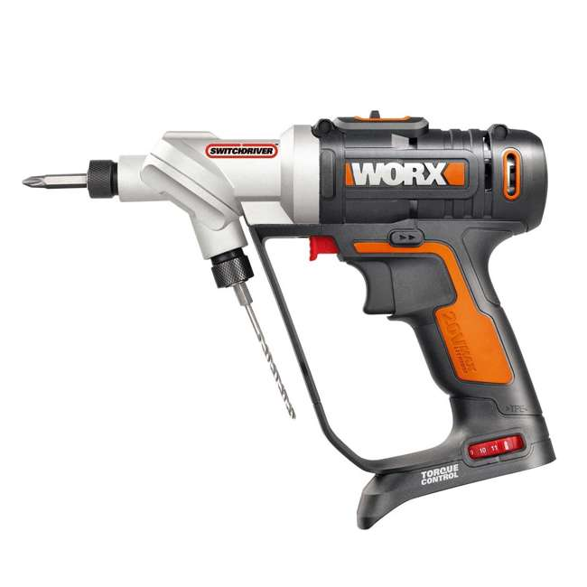 WX176L.9 Worx 20V 2-In-1 Cordless Switchdriver Drill and Driver Tool (Tool Only)