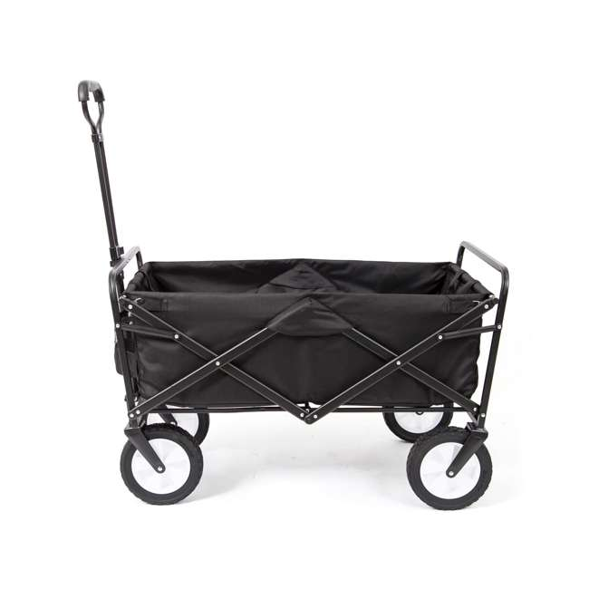 mac sports collapsible frame outdoor garden utility wagon cart black open box mac wtc 145 black u a - Garden Utility Cart