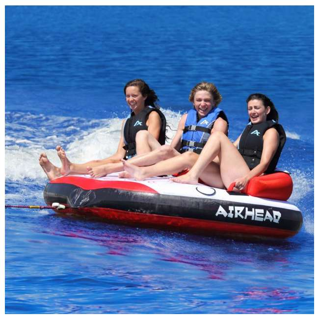 AHRT-13 Airhead Riptide 3 Triple Rider Inflatable Towable Tube (2 Pack) 2