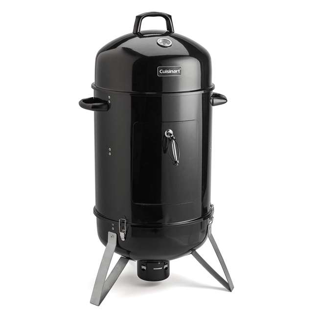 COS-116 Cuisinart COS-118 Vertical 16 Inch Charcoal Smoker Grill with Dual Vents, Black