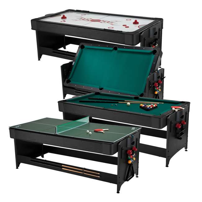 64-1046 Fat Cat 3-in-1 Air Hockey, Billiards, and Table Tennis Table