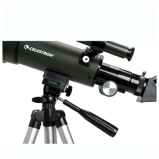 4 x 22005 [Copy 1] Celestron TravelScope 60AZ 60x 700mm Telescope, Silver (4 Pack) 5