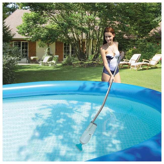 P42412525167 + EV05CBX Summer Waves 24 Foot Pool, Wicker w/ Kokido Pool Vacuum 11