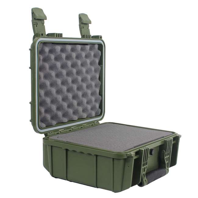 "H075GNF8542AC1-U-A Condition 1 14"" Hard Shell Weather Water Resistant Storage Case, Green(Open Box) 2"