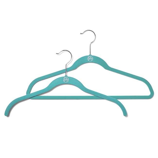JHR013900 Huggable Hangers Shirt Hangers 24-pack, Chrome, Teal