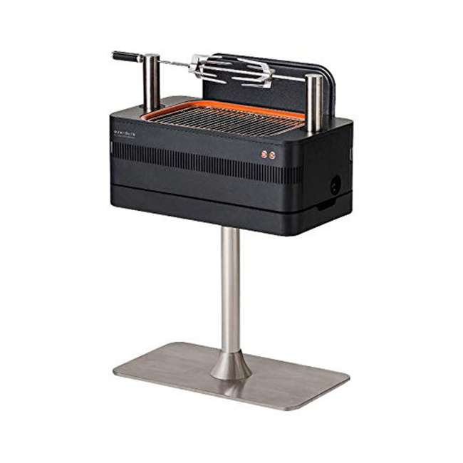 HBCE1BSUS OMA-Everdure Fusion Charcoal Grill with Pedestal and Rotisserie (HBCE1BSUS), 28.75-Inches 2