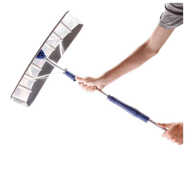 SNJ-SJ623E-RB Snow Joe Telescoping Snow Shovel Rake (Certified Refurbished) 3