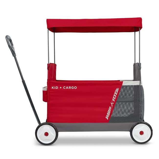 3965Z Radio Flyer Kid & Cargo 2 Seat Folding Wagon, Red 1