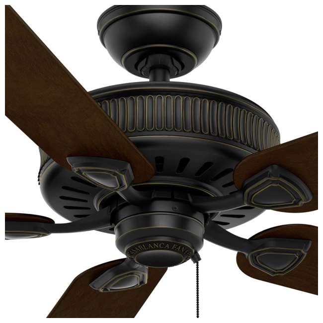 54002 Casablanca Ainsworth 54 Inch Indoor Ceiling Fan with Pull Chain, Basque Black 2