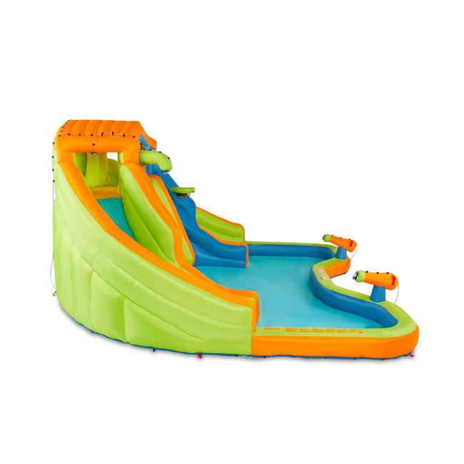 BAN-90369 Banzai 90369 Adventure Club Water Park Inflatable 2 Lane Water Slide Splash Pool 2