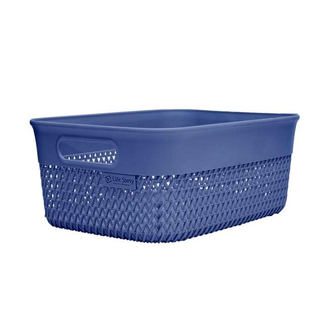 6 x BSK-10-BLU Life Story Lightweight Storage Woven Trendy Basket 10 Quarts, Blue (6 Pack) 1