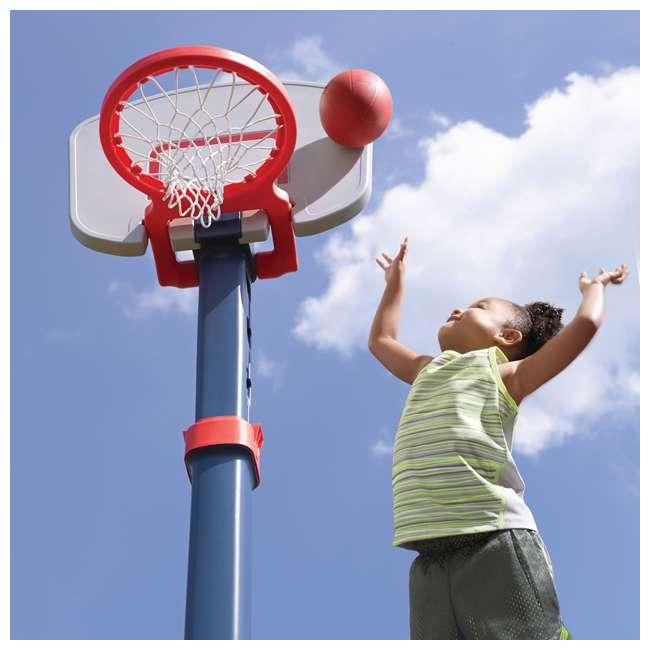 735700-U-B Step2 Durable Adjustable Child Pro Basketball Hoop and Ball, Blue (Used) 2