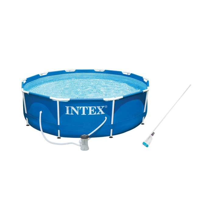 Intex 10 39 x 30 metal frame swimming pool with filter pump kokido b vac vacuum 28201eh k923cbx for Intex swimming pools clearance