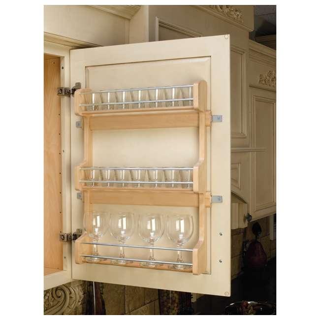 4SR-21 Rev-A-Shelf 21 Inch Cabinet Door Mount Wood 3 Shelf Spice Rack with Hardware 1