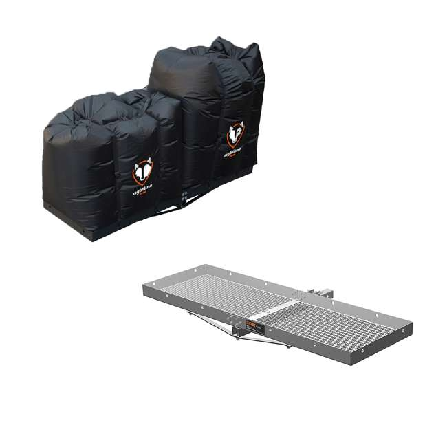 100T62 + CURT-18100 Curt Vehicle Rear Mount 18100 Tray and 2 Rightline Gear Weather Proof Dry Bags