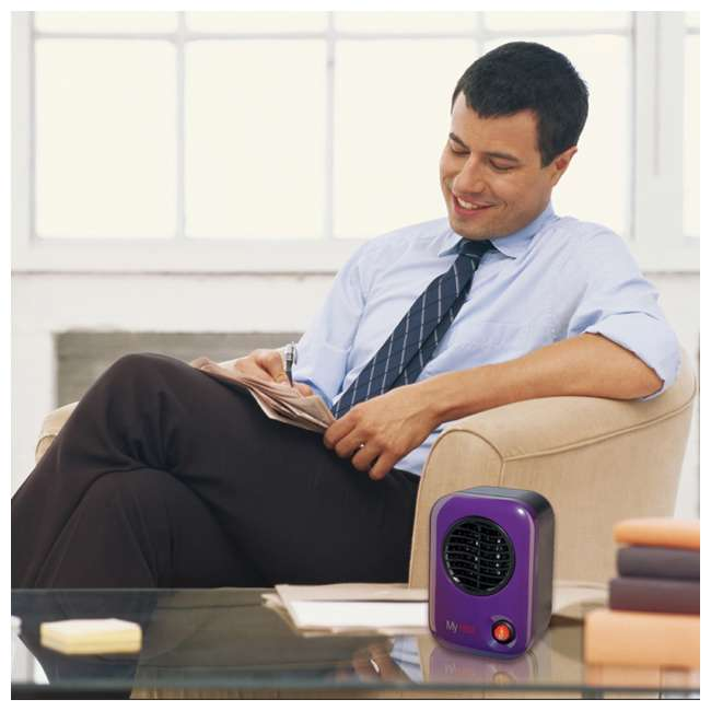 LKO-106-TN Lasko 106 MyHeat Portable Personal Electric 200W Ceramic Space Heater, Purple 2