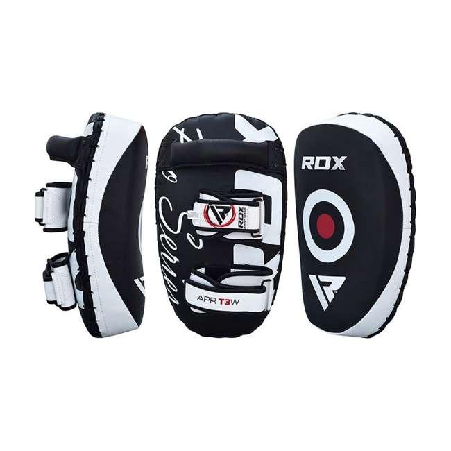 APR-T3W-PAIR RDX T3 Orbit Pro Fighter Training Thai Kickboxing Pads, Black 7