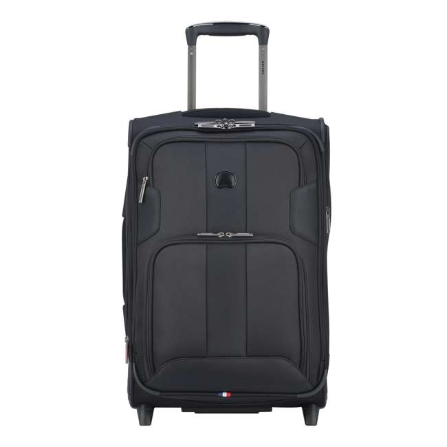 "40328272000 DELSEY Paris 21"" Expandable 2 Wheel Spinner Carry On Travel Luggage Case, Black"