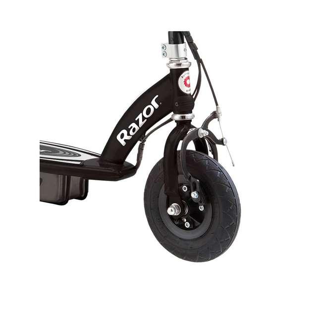 13110097 + 97778 Razor E100 Black Electric Scooter And Razor V17 Youth Helmet 7