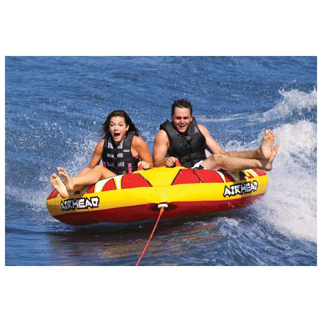 AHTB-12-U-A AIRHEAD Turbo Blast Inflatable Double Rider Boat Water Tube (Open Box) (2 Pack) 1