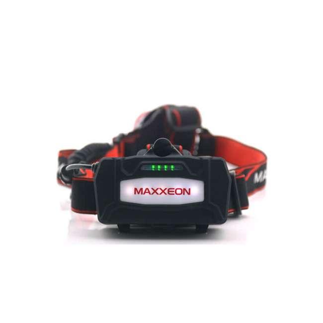 MXN00630 Maxxeon 630 WorkStar Technician's Micro USB Rechargeable LED Work Headlamp, Red 2